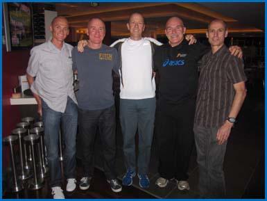 Lee Troop, Pat Carroll, Cameron Hart, Rob De Castella, Steve Moneghetti 2011 Gold Coast Airport Marathon